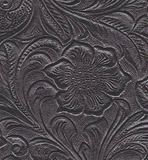 Black Western Tooled Tolex