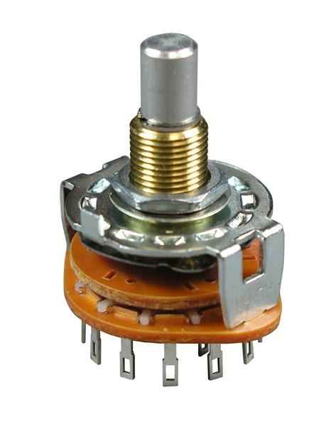 6 position 2 pole Rotary Switch