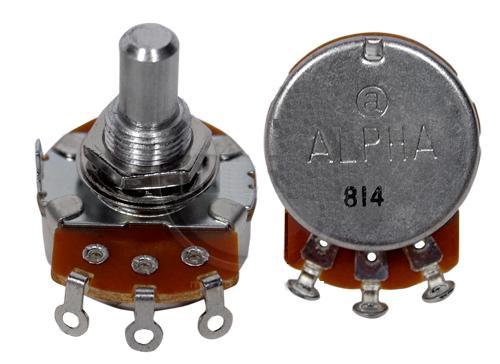 Potentiometer - Alpha 250 KA Solderable Back, Bass / Treble (Int
